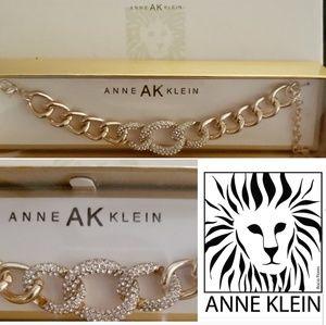 Anne Klein chunky chain link Bracelet gold color